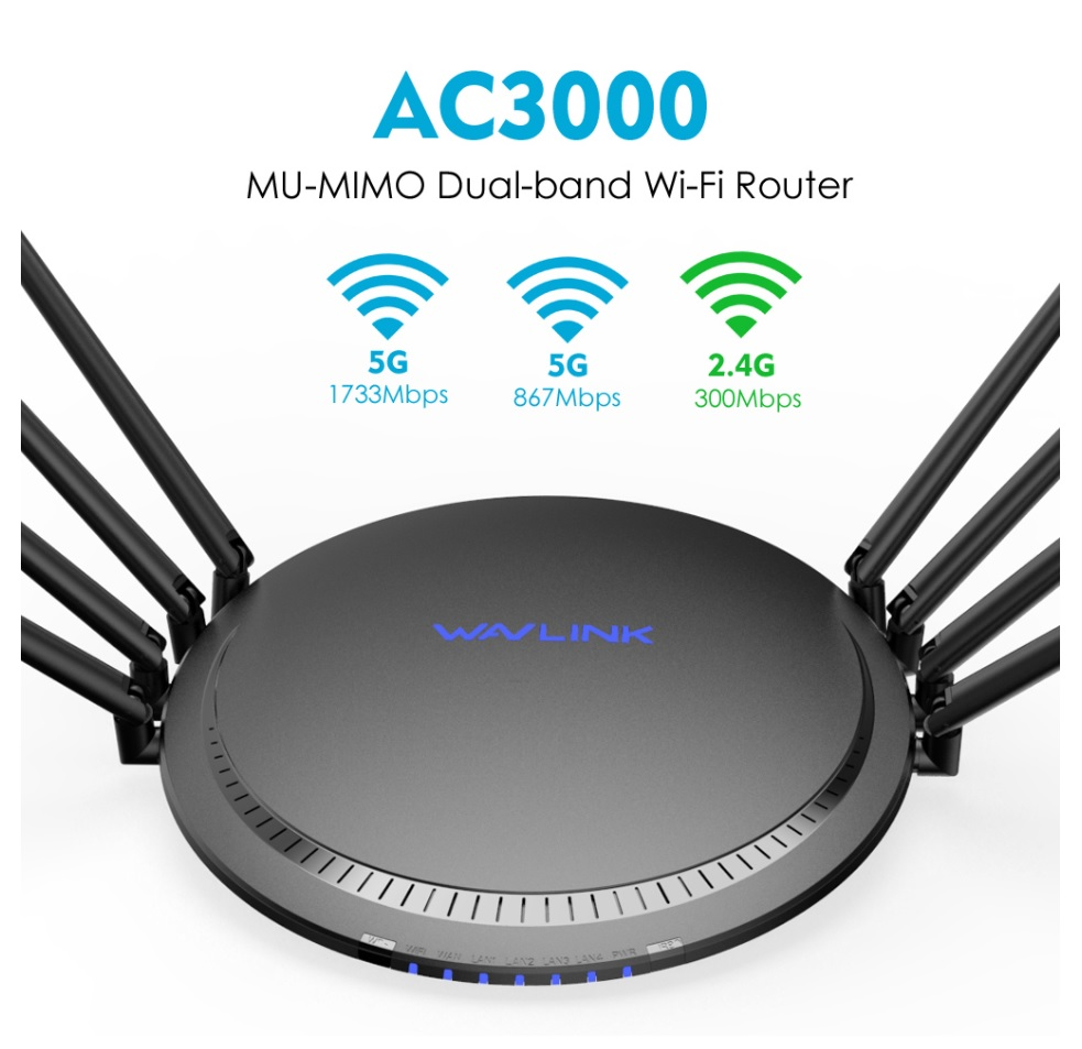Best Home Routers 2020.Wavlink Ac3000 Tri Band Gigabit Wireless Wifi Smart Router