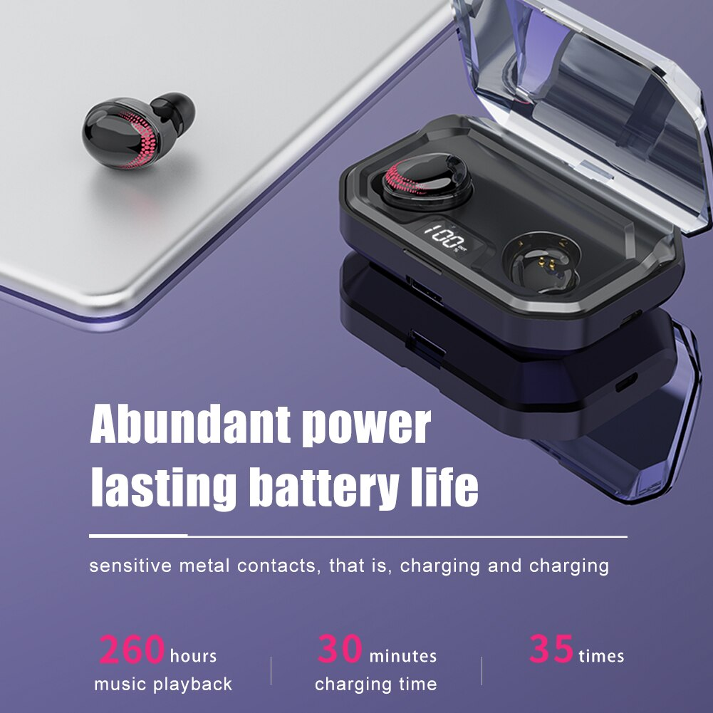 X10 Wireless Bluetooth 5.0 Earphones with Touch Buttons