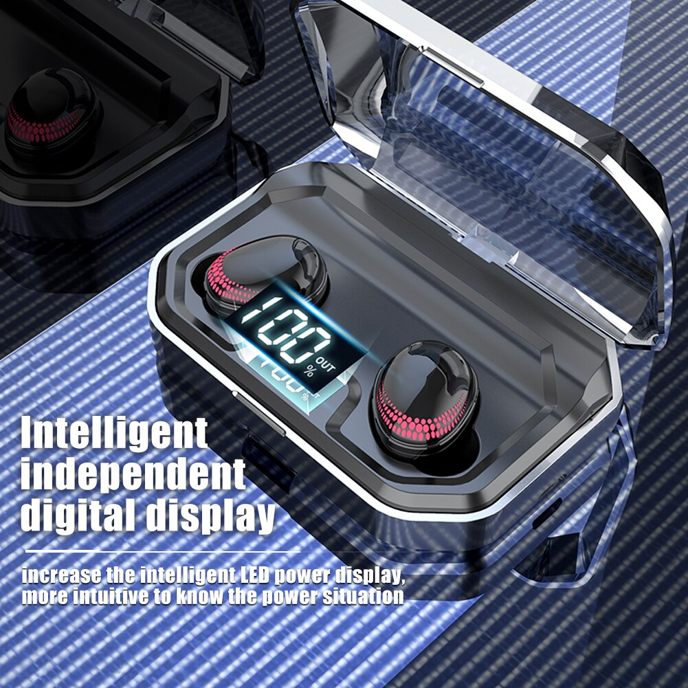 intelligent intelligent digital display x10 tws 5 bluetooth earbuds 2020