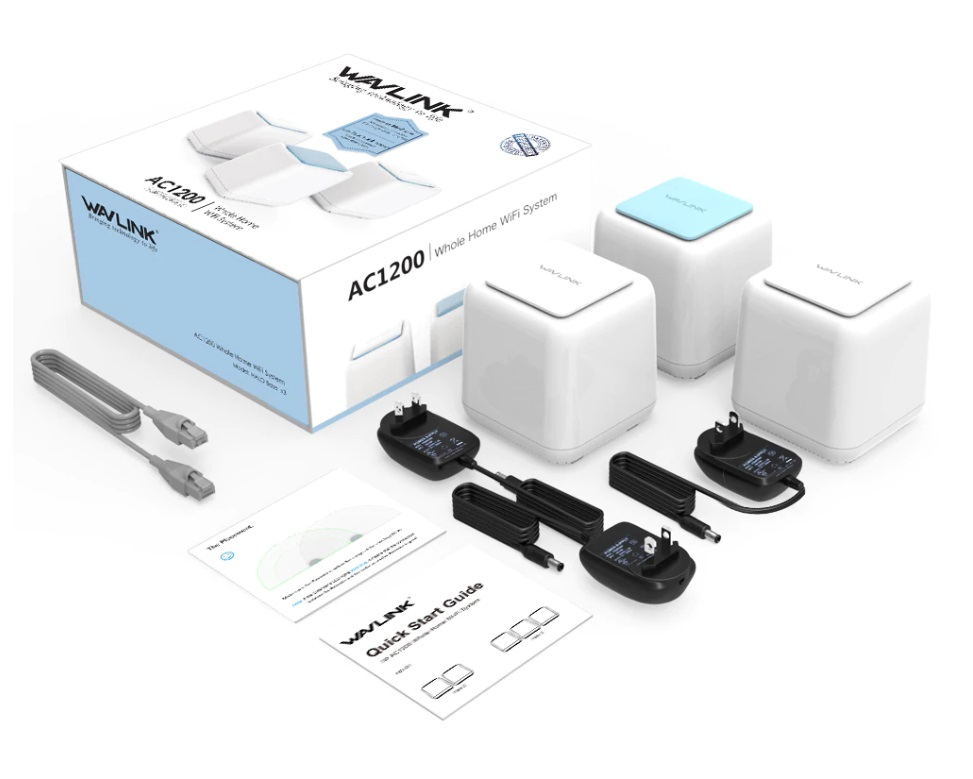 HALO Base – AC1200 Dual-band Whole Home WiFi Mesh System with Touchlink