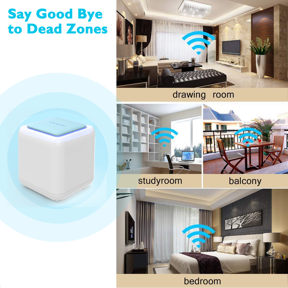 Wavlink Wireless Smart Wifi Router AC1200 Dual-band 2.4/5Ghz Whole Home WiFi Mesh System Touchlink Gigabit WI-FI Repeater Router